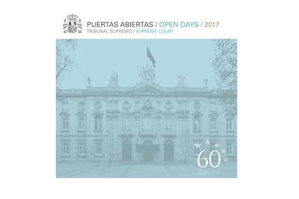 Cartel Jornadas Puertas Abiertas Tribunal Supremo 2017