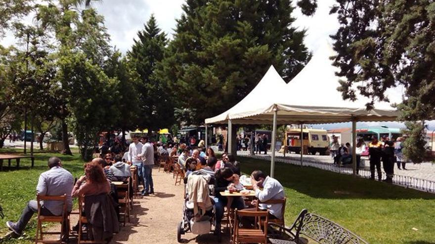 Parque junto al Teatro Romano, donde fue la feria de comida ambulante FoodTruck