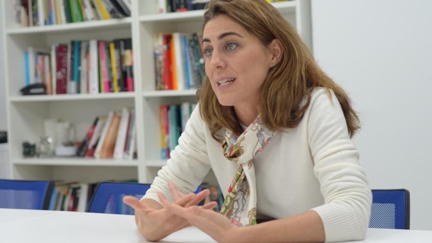Lorena Ruiz-Huerta, durante su entrevista con eldiario.es