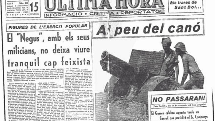 Fotografía que Centelles publicó en 'Ultima Hora' sobre el frente de Tardienta (Huesca).