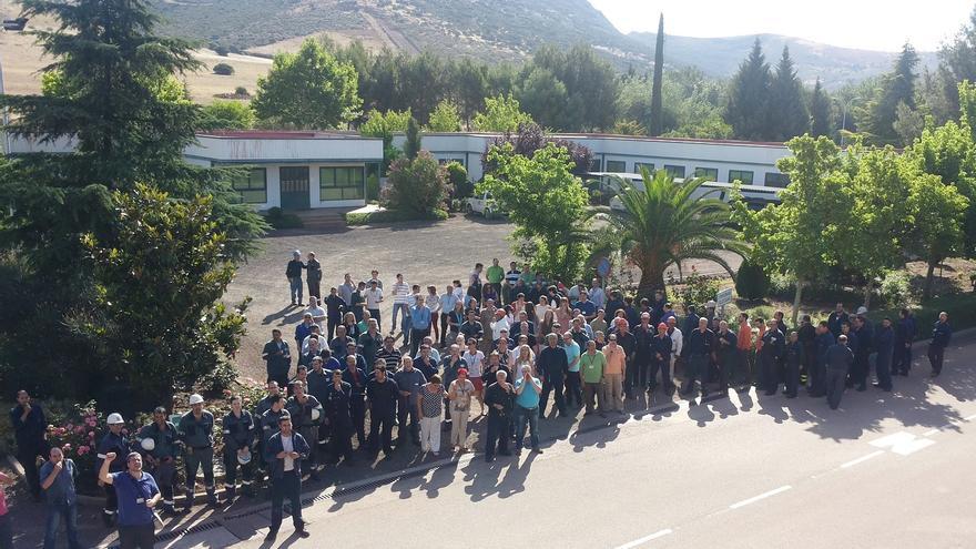 Pitada Elcogas 2 de julio. Foto: Comisiones Obreras