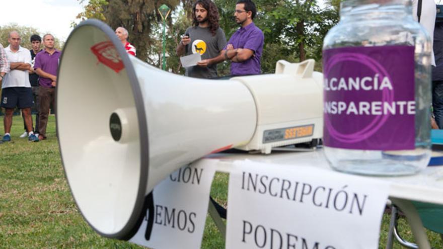 Imagen de archivo de una asamblea de Podemos en el Parque Cruz Conde | MADERO CUBERO