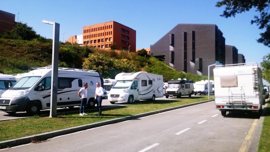 Área de autocaravanas en Santander. | Europa Press