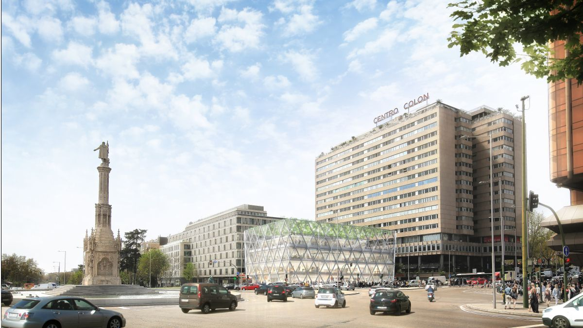 Recreación del nuevo edificio Axis | FOSTER +PARTNERS