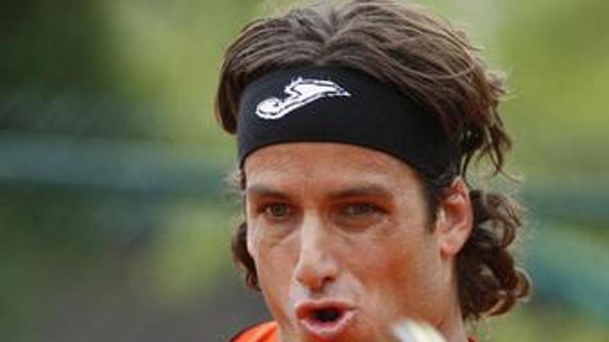 El tenista Feliciano López en Roland Garros