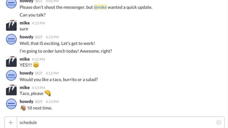 Los 'chatbots' reciben órdenes a través de texto y se comunican con otras apliaciones