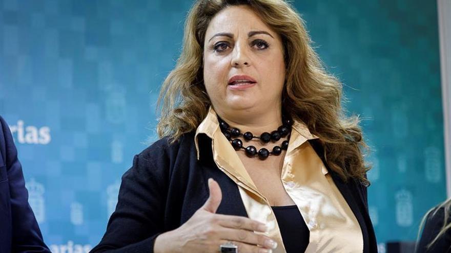 La consejera de Empleo, Políticas Sociales y Vivienda del Gobierno de Canarias, Cristina Valido, presenta el balance de gestión en políticas de infancia en Canarias.