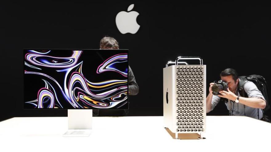 Vista del nuevo Apple Mac Pro el 3 de junio de 2019 durante la Conferencia Mundial de Desarrolladores de Apple 2019, celebrada en el centro de convenciones McEnery, en San José, California (Estados Unidos).