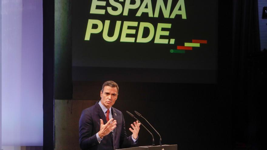 Archivo - El presidente del Gobierno, Pedro Sánchez, ofrece una conferencia bajo el título 'España puede. Recuperación, Transformación, Resiliencia' en la Casa de América, en Madrid (España) a 31 de agosto de 2020.