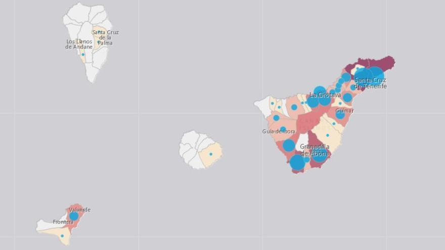 Santa Cruz de Tenerife, única provincia de España con un retroceso en el avance de la pandemia