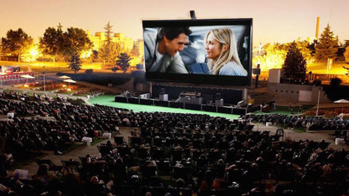 Uno de los cines de verano de Madrid