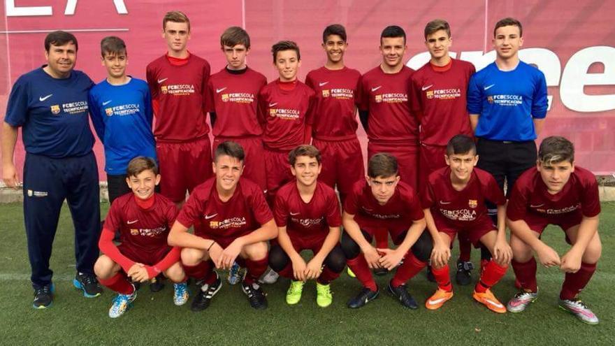 Euipo Infantil de la Escuela del FC Barcelona en Tenerife.