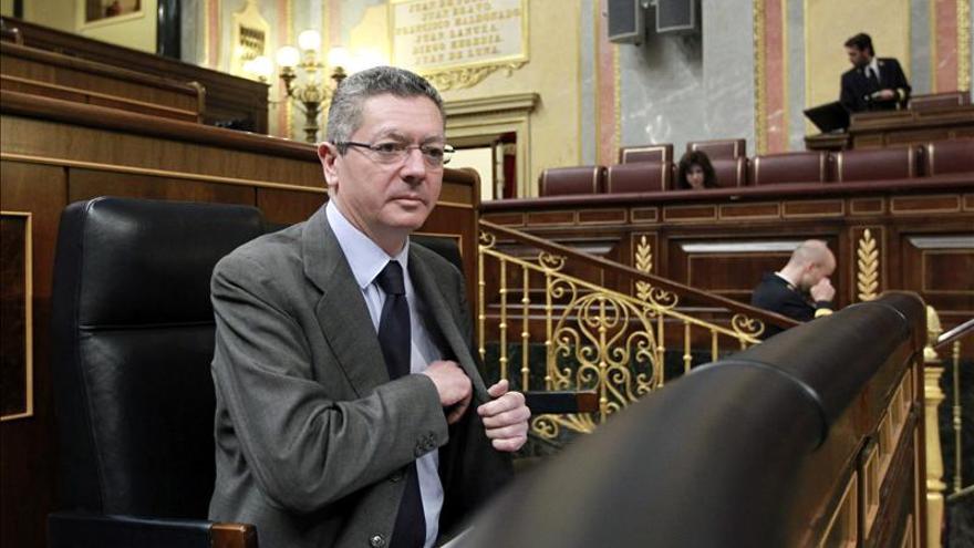 Alberto Ruiz-Gallardón en su época como ministro de Justicia