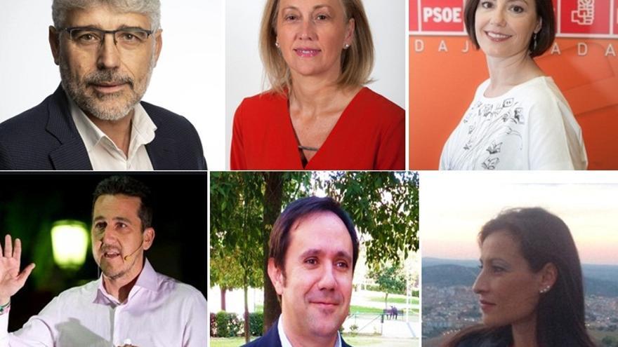 Algunos de los diputados elegidos este domingo en las elecciones generales por Extremadura