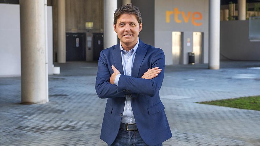 Jesús Cintora, en la sede de RTVE