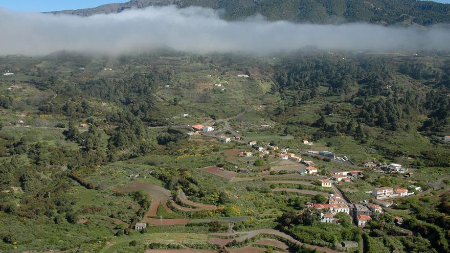 Panorámica del barrio de Llano Negro del municipio de Garafía. Foto: Ayuntamiento de Garafía.