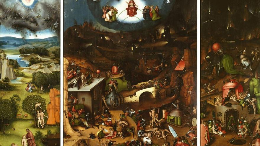 Tríptico 'El Juicio Final', pintado por 'El Bosco' hacia el año 1482. (DP)