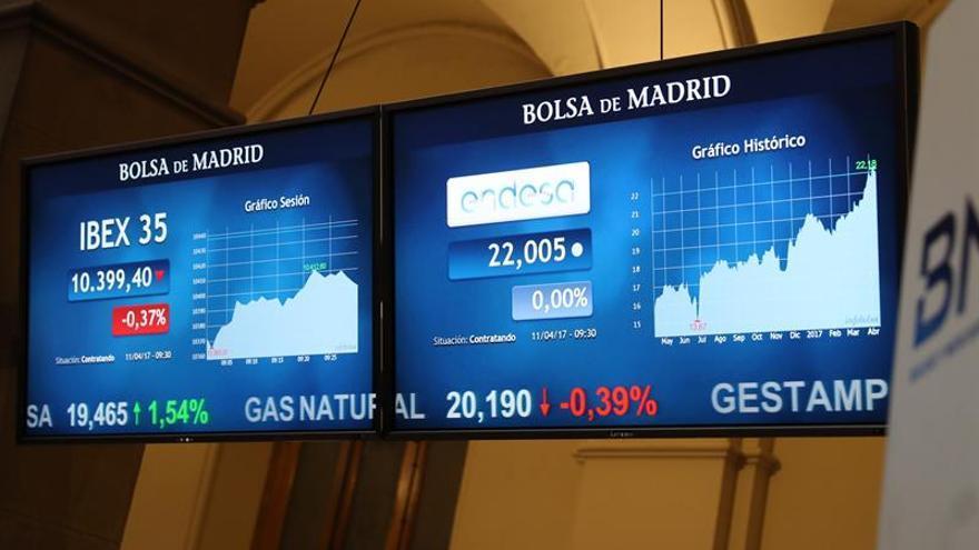 La Bolsa española abre a la baja, con leves pérdidas del 0,14 por ciento