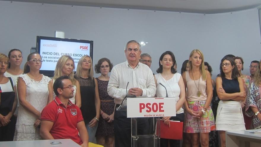 """PSOE presenta una moción en la Asamblea de Murcia para que """"ningún niño se quede sin libros de texto"""""""