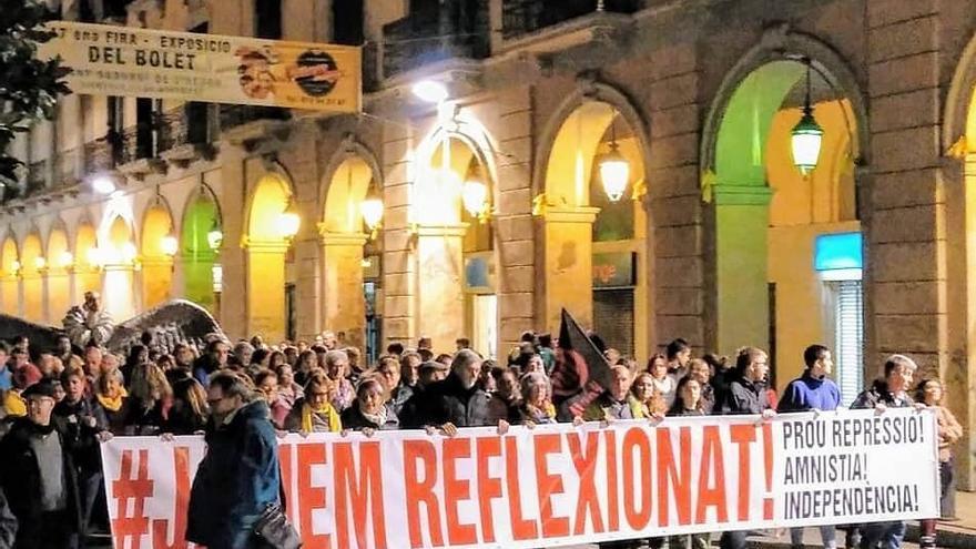 Manifestación organizada por Tsunami Democràtic