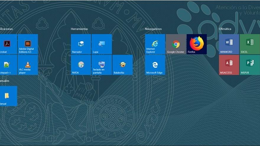 La Universidad de Murcia habilita un escritorio virtual con herramientas para estudiantes con discapacidad