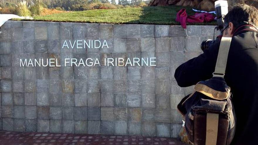 Manuel Fraga da nombre a la avenida de acceso a la Ciudad de la Cultura