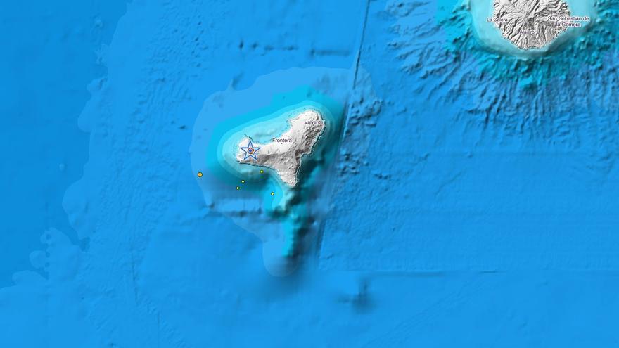 Seísmo de 3,7 grados registrado en aguas de El Hierro