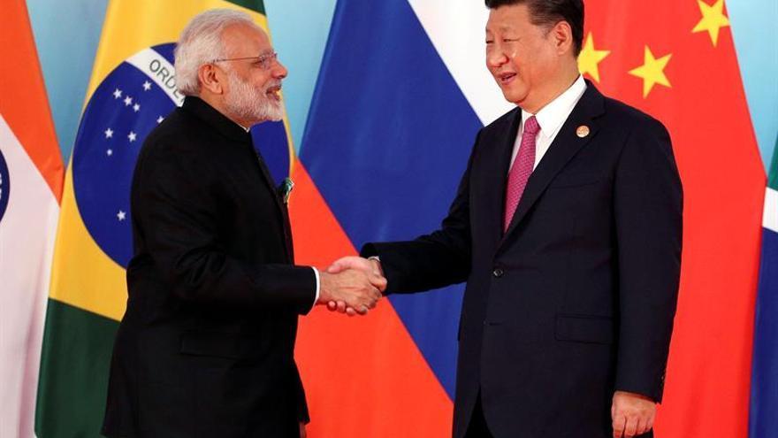 El presidente chino recibe a los líderes de los países BRICS en Xiamen