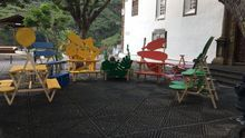 Obras de arte en la plaza de Las Nieves.