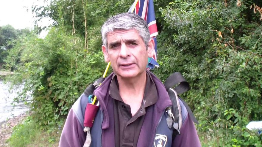 El bombero ecologista Martin Hutchinson.   E.O.