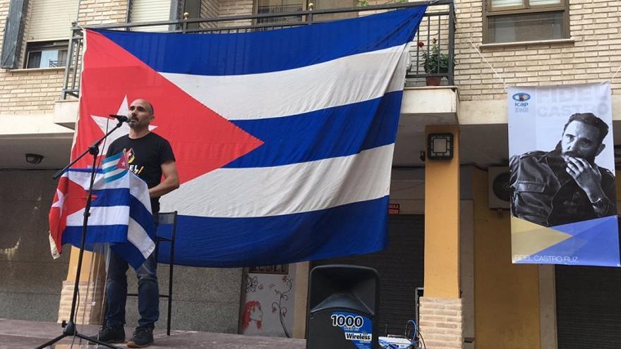 David Rodríguez, en un acto de homenaje a Fidel Castro