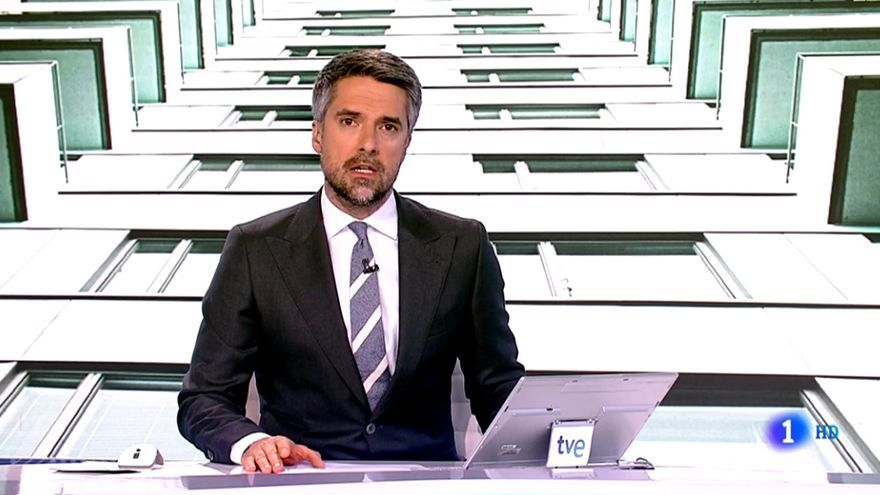 Carlos Franganillo en el Telediario de TVE