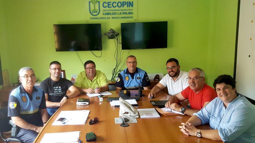 Primera de reunión de coordinación para el dispositivo de seguridad que se llevará a cabo durante la celebración de la prueba por montaña Transvulcania Bike.
