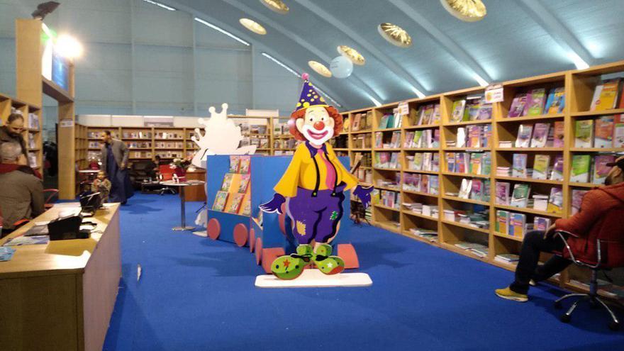 Stands dedicados a la literatura infantil en el salón Internacional del Libro de Casablanca
