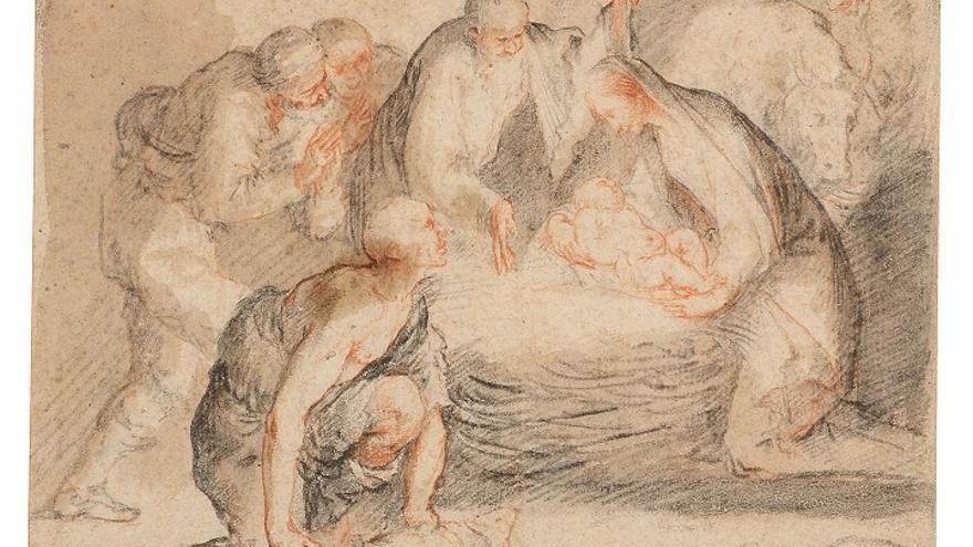 'Adoración a los Pastores nocturna', José de Ribera
