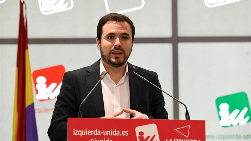 Garzón llama a la movilización de IU en la calle para frenar a la derecha