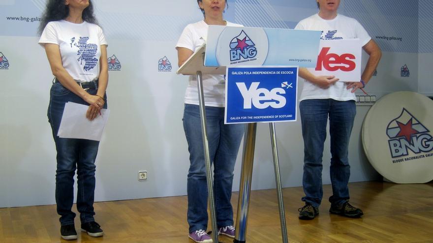 """El BNG apoya la campaña 'Solidaridad con Escocia', que defiende que el 'sí' """"dará ánimo a otras naciones sin Estado"""""""