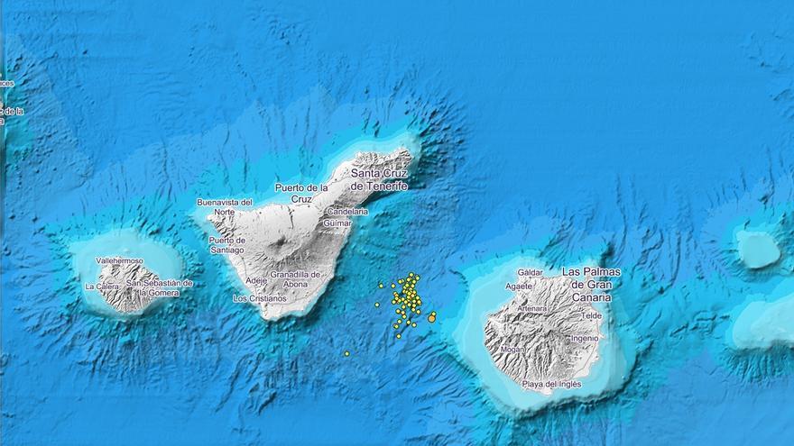 Mapa de localización de los temblores publicado por el Instituto Geológico Nacional.