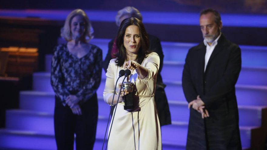 Aitana Sánchez-Gijón en los Premios Max, anoche