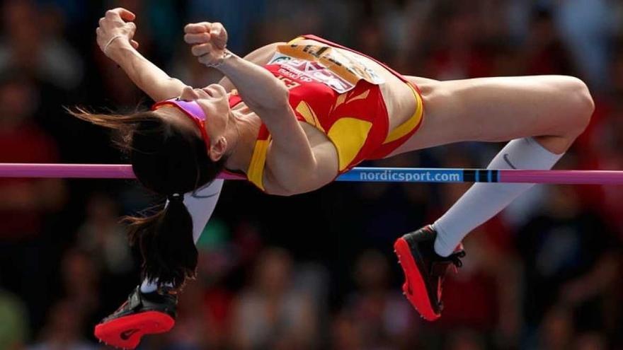 Ruth Beitia, campeona olímpica de salto de altura.