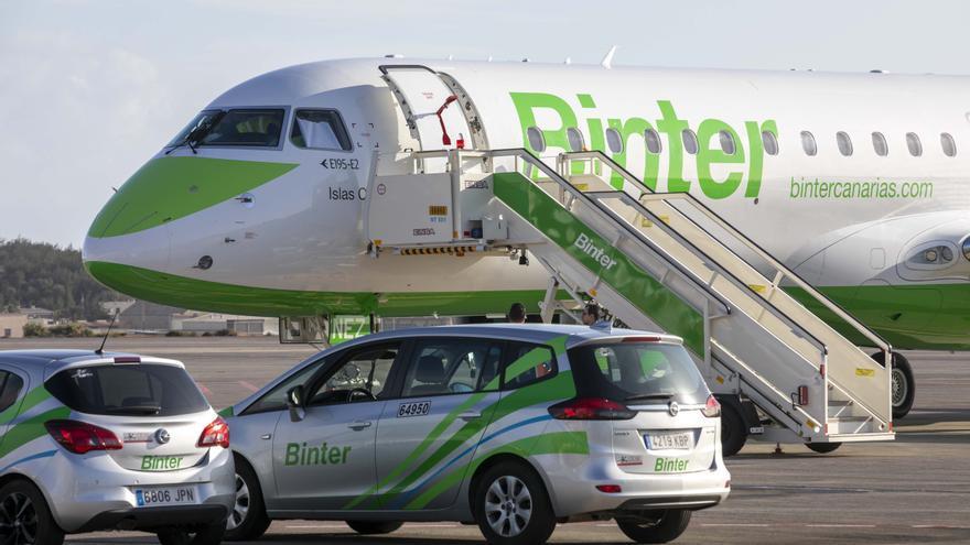 Avión de Binter para su nueva ruta entre Canarias y Vitoria
