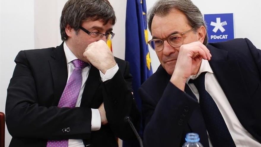 Puigdemont y Mas, en el comité del PDeCAT
