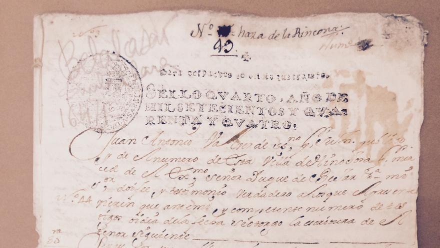 Documento de 'Divorcio por riesgo de vida' de 1744. (Foto. Archivo Histórico Provincial de Córdoba)