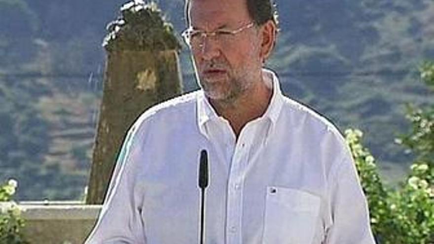 Rajoy anuncia que el PP pedirá en el Congreso la retirada de los presupuestos