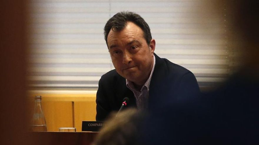 Manuel Cobo, durante su comparecencia en la Asamblea de Madrid.