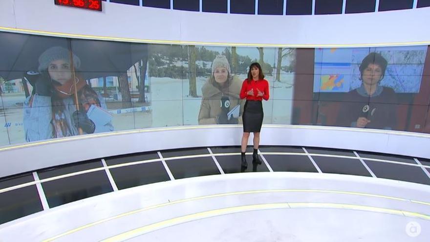 Victoria Maso durante los informativos de medio día de À Punt del 20 de enero.