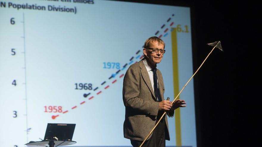Hans Rosling en una presentación en Lisboa en septiembre de 2015.