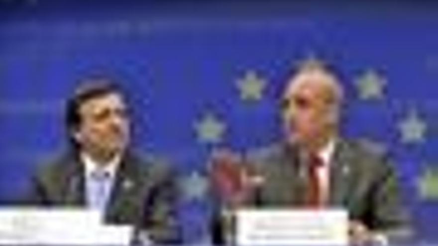 Durao Barroso y Fredrik Reinfeldt