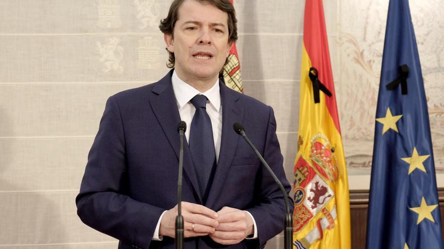 El presidente de la Junta, Alfonso Fernández Mañueco, ha realizado hoy una declaración institucional con motivo del Día de Castilla y León