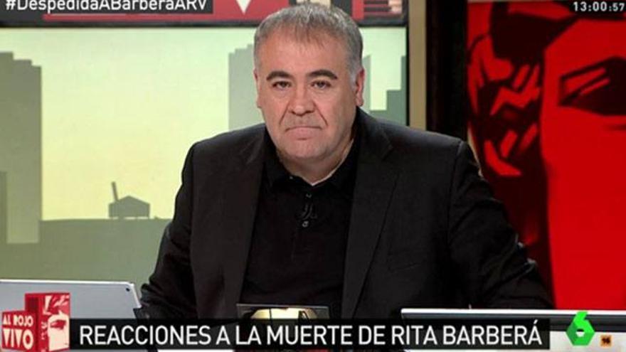 Ferreras responde al ataque de Rafael Hernando tras la muerte de Rita Barberá